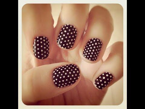 easy nail art polka dots nail art for beginners  simple