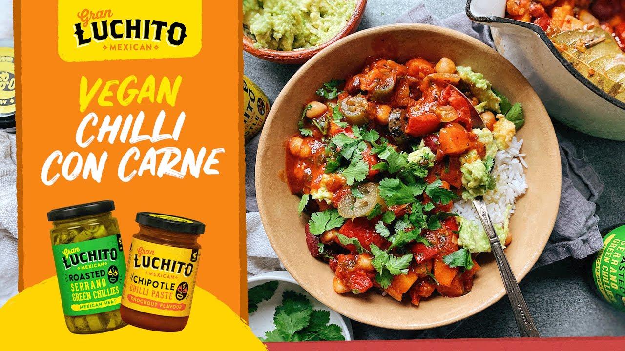 Vegan Chilli Recipe With Roasted Veg Chipotle Paste Gran Luchito