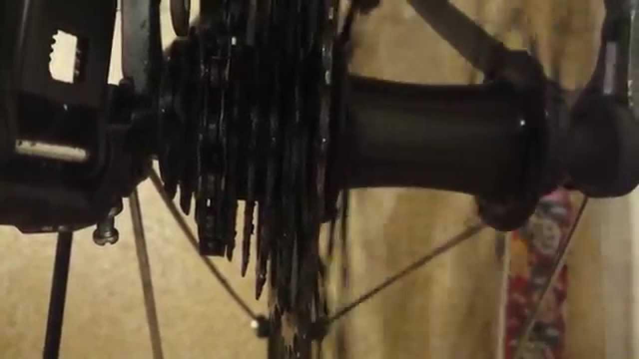 Rear Wheel Hub Cassette Wobble Youtube