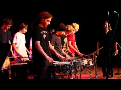 Student Drum Ensemble at Guitar Workshop Plus 2011