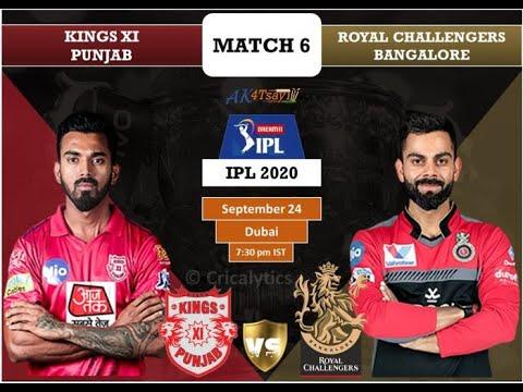 RCB vs KXIP live match | IPL 2020 live |Stream Live Link ...
