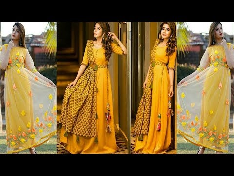 Long kurti design for women/floor length anarkali suit||Latest Designer Kurti 2019 || Trendy India