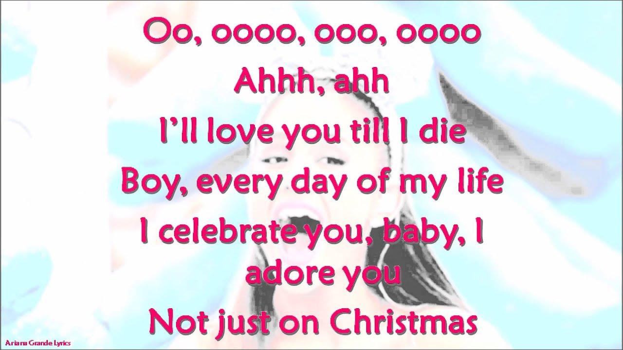 Not Just On Christmas-Ariana Grande-Lyrics - YouTube