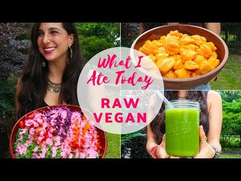 WHAT I ATE TODAY | Raw Vegan 12 Years