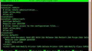 Installing and configuring C.U.P.S.