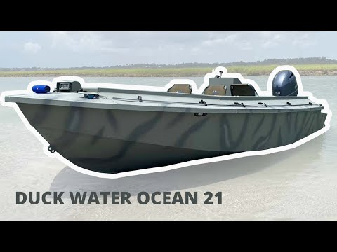 The Ultimate Duck Boat ( DUCK WATER OCEAN 21) Sea Duck / Open Water Duck Hunting Boat