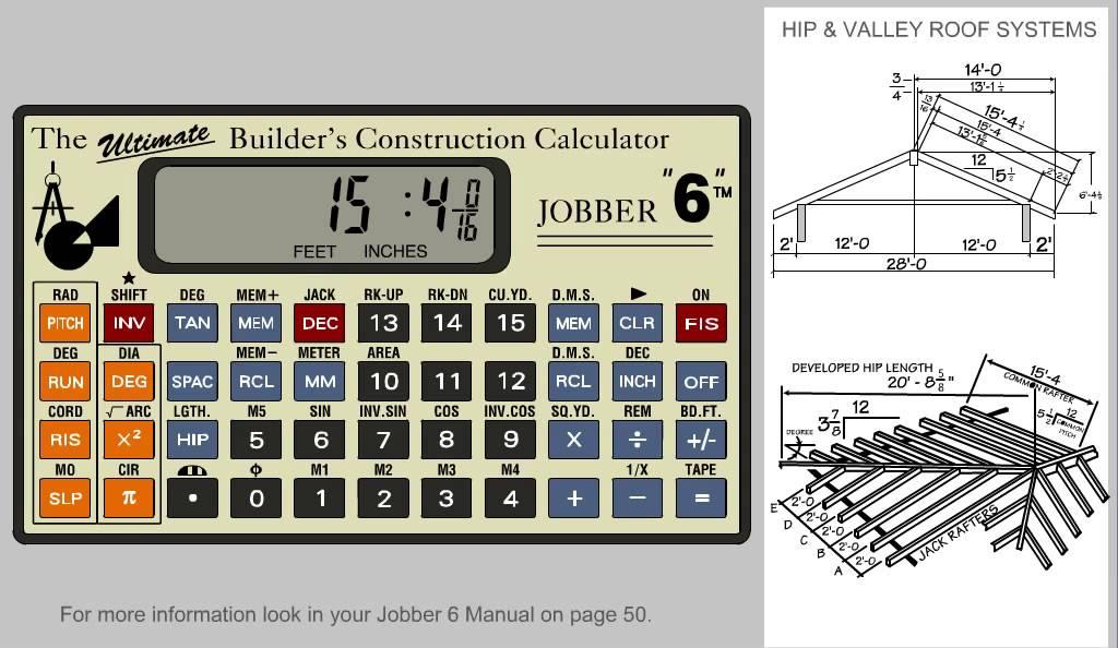 Jobber 6 Construction Calculator Solving Hip And Valley: new construction calculator
