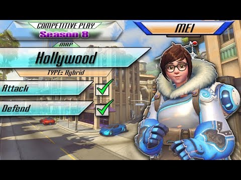 Overwatch: Mei #19 [Competitive Play] - Hollywood (no commentary) PS4