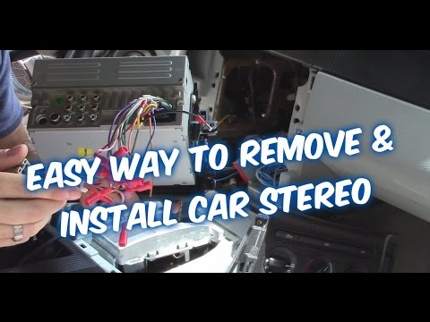 HOW TO INSTALL A CAR STEREO  CONNECT CAR RADIO WIRING TO AMP SUB