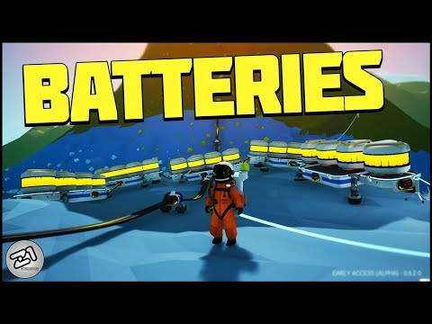 SO MANY BATTERIES! Base Building and Power Storage! Astroneer Update | Z1 Gaming