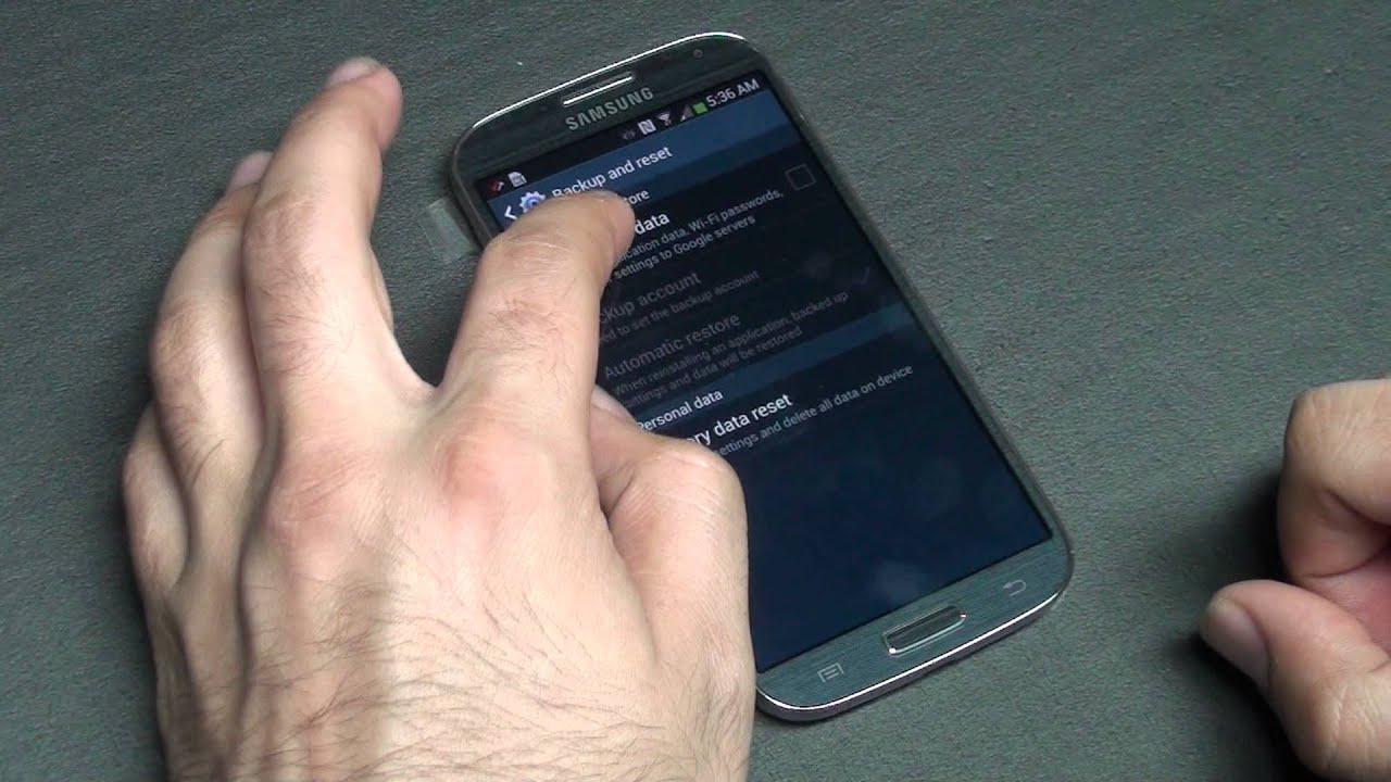 How to change your password on samsung galaxy s4