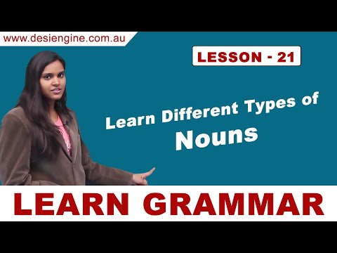 Lesson - 21 Learn Different Types of Nouns | Learn English Grammar | Desi Engine India