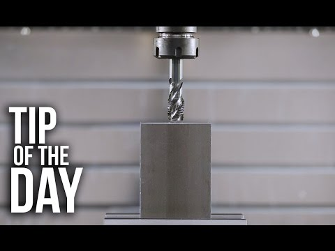 Simple Peck Tapping Using a G84 Tapping Cycle – Haas Automation Tip of the Day