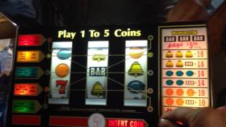 Bally 873 slot machine 5-line fruit