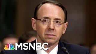Deputy Attorney General Rod Rosenstein Summoned To White House | Craig Melvin | MSNBC