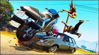 GTA 5 BIKE CRASHES & ACCIDENTS Ep.2 (Euphoria Physics)