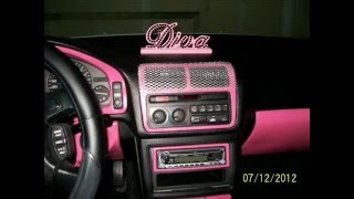 DIY: My 1st Pretty Girl Swagged out Hot Pink n Black Acura inside Make Over