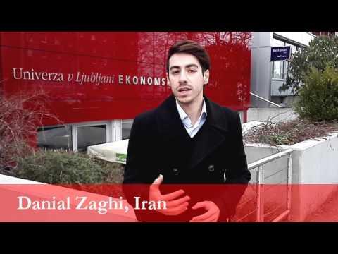 Danial Zaghi, student from Iran at the University of Ljubljana
