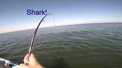 Jax Beach Kayak Fishing Croaker and Shark!