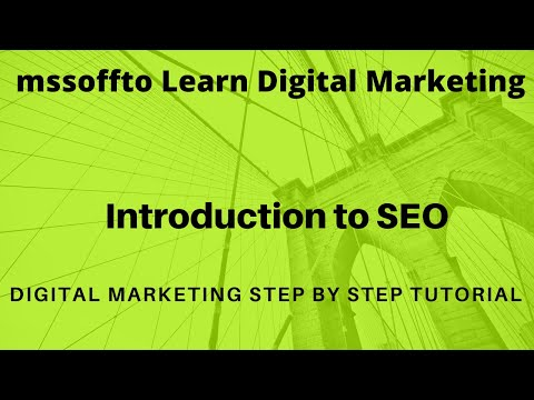 Digital Marketing Step by Step Tutorial |  Introduction to SEO chapter 1.1 thumbnail