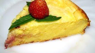 Вкусно -  ТВОРОЖНАЯ #ЗАПЕКАНКА с Клубникой в духовке #Рецепты из ТВОРОГА