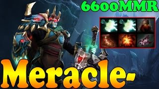 Dota 2 - Meracle- 6600 MMR Plays Wraith King Vol 1 - Pub Match Gameplay!