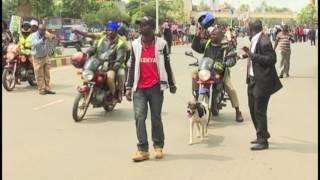 Raila car windscreen hit as police disperse violent Cord demo