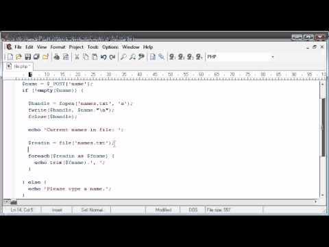 Beginner PHP Tutorial - 78 - File Handling: Reading a File