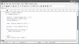 Beginner PHP Tutorial - 78 - File Handling: Reading a File