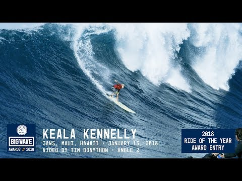 Keala Kennelly at Jaws 2  - 2018 Ride of the Year Award Entry - WSL Big Wave Awards