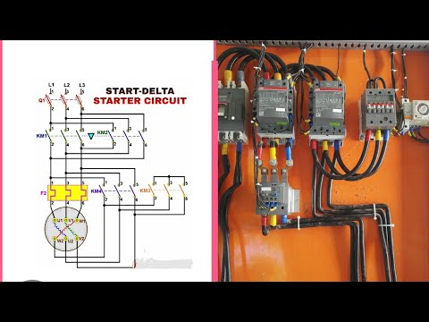 In English Star Delta Starter Circuit, Star Delta Starter Wiring Diagram Pdf