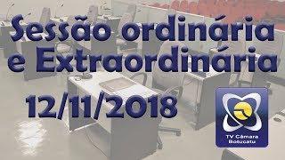 Sessão ordinária e extraordinária 12/11/2018
