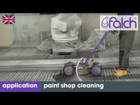 Effectively clean and remove paint from paint systems and spray booths with high-pressure cleaners