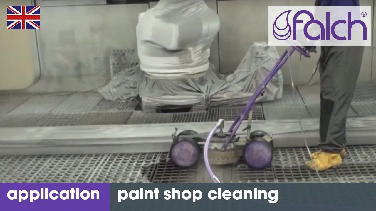 High Pressure Spray Booth : Effectively clean and remove paint from systems