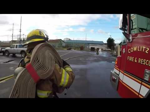 Cowlitz 2 Fire & Rescue Hose Handling Lesson