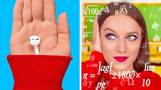 AMAZING COLLEGE HACKS || Funny Hacks Every College And School Girls Must Know by 123 GO!