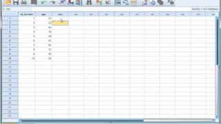 SPSS Tutorial 4 - Creating Variables and Entering Data
