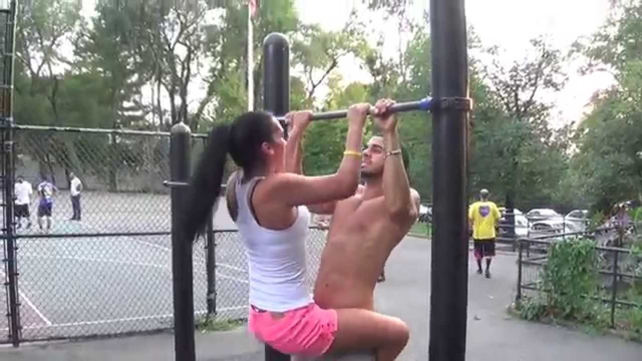 Couple has workout sex at a gym 5