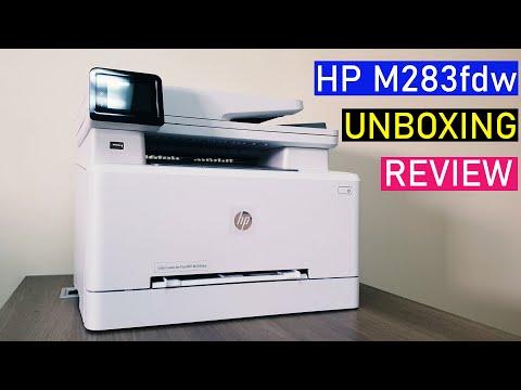 HP Color LaserJet Pro M283fdw Unboxing & Review!!