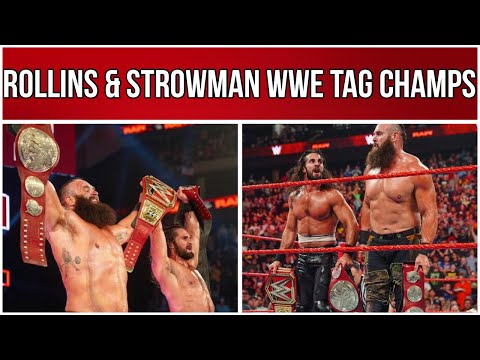 SETH ROLLINS & BRAUN STROWMAN WIN WWE TAG TEAM TITLES! | WWE RAW REVIEW