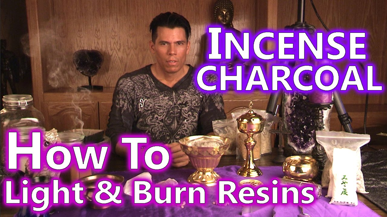 How to Light & Burn Incense Resins & Loose Herbs on Charcoal