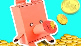 DIY Piggy Bank | Craft Ideas for Kids on Box Yourself