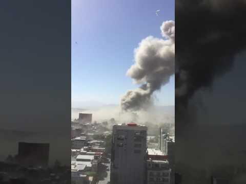 Huge Smoke Cloud Rises Over Kabul Following Bomb Attack