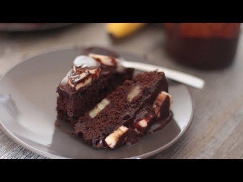 gâteau-au-chocolat-et-à-la-banane-,-un-régal-!