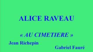 Alice Raveau   Au cimetière   Gabriel Fauré   Paroles de Jean Richepin   Pathé X 93077 enregistré c