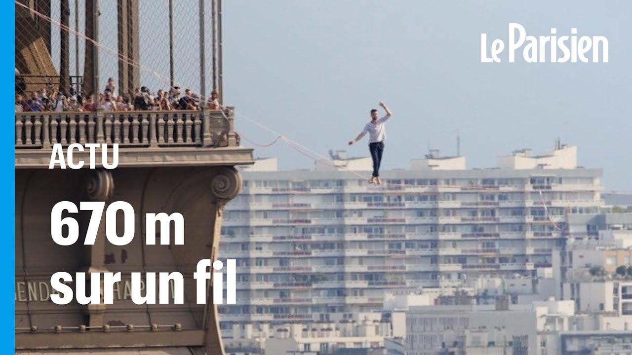 Download Nathan Paulin a marché dans le vide entre la tour Eiffel et le Palais de Chaillot
