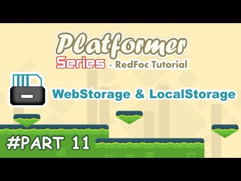 Platformer Game #11 - WebStorage and LocalStorage - Construct 2 Tutorial