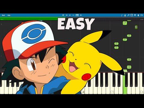 Pokémon Theme Song - EASY Piano Tutorial