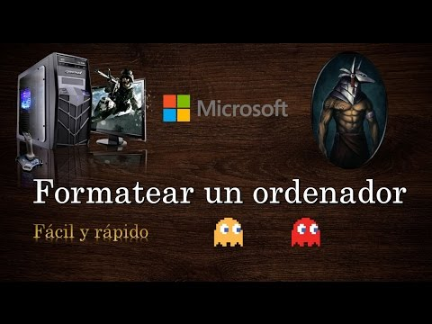 Formatear un ordenador - Windows 8