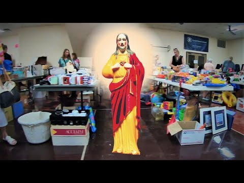 Jesus, Wine and Money At A Church Rummage Sale